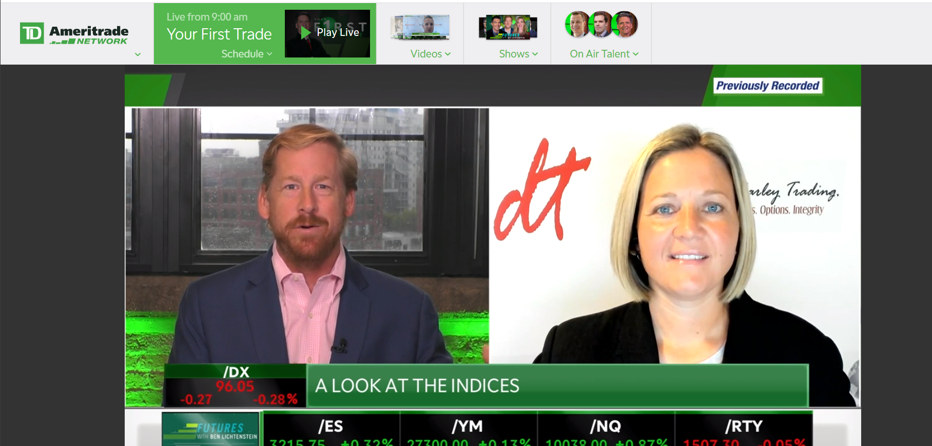 TD Ameritrade Network Futures Market and Fed Analysis with Futures Broker Carley Garner