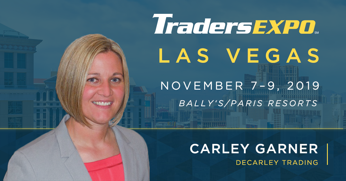 See commodity broker Carley Garner at the TradersExpo Las Vegas.