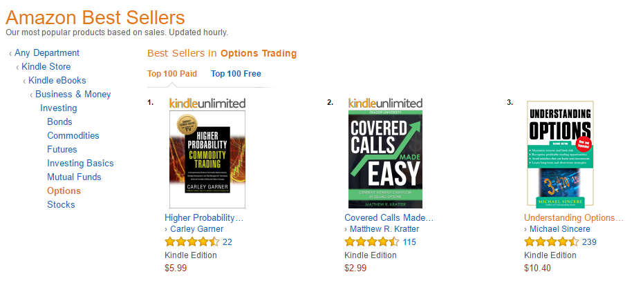 Best selling options trading book