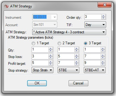 Futures Trading Platform Multiple Exit Strategy Entry